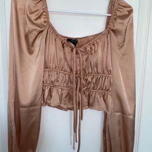 Forever 21 champagne silky top